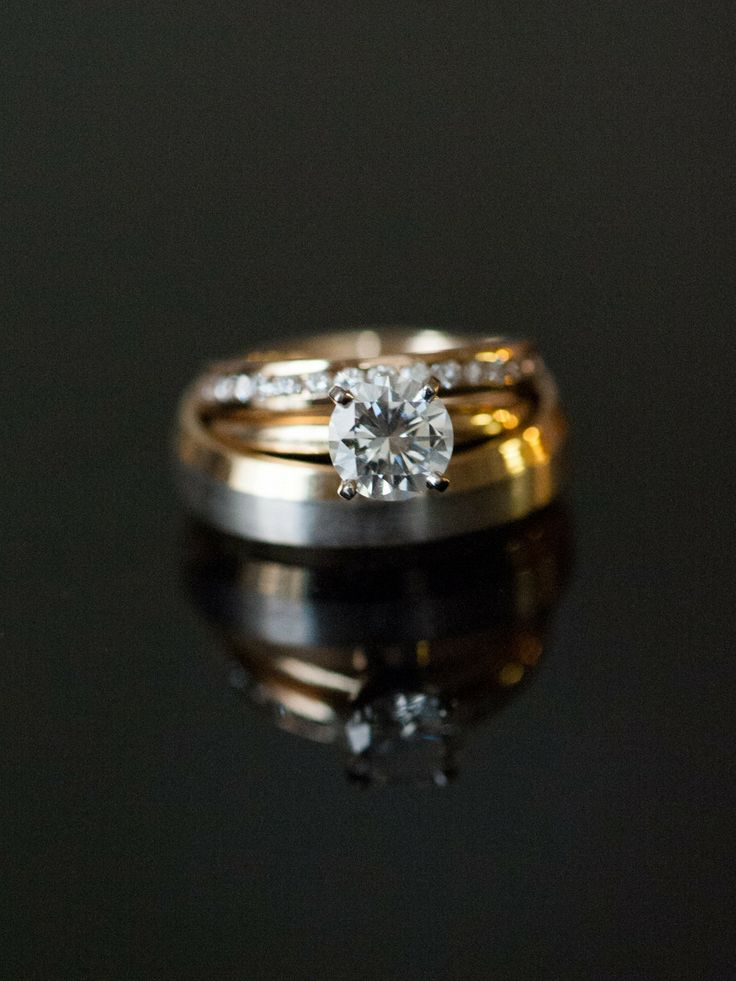 #Engagement and Wedding Rings | Photography by Brett Heidebrecht | See the weddi...