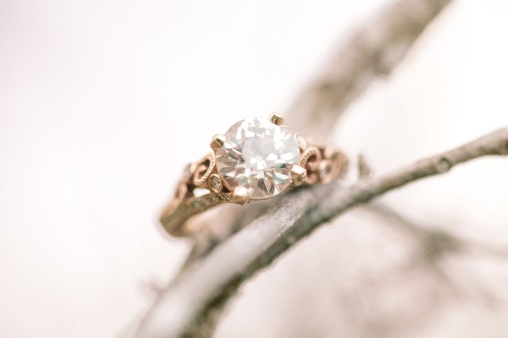 Engagement Ring on SMP | See the e*session: www.stylemepretty... | Photography: ...
