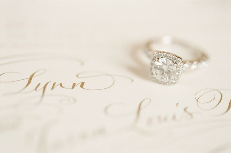 #Engagement Ring | See the wedding on #SMP Weddings | www.stylemepretty... | KT ...
