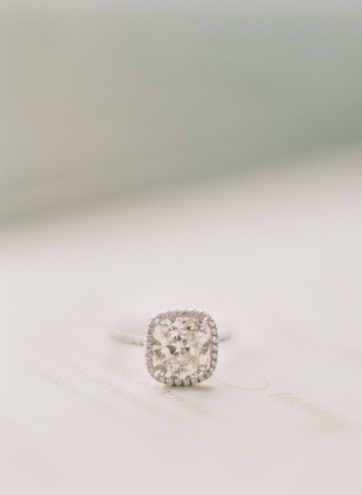 #Engagement Ring | See the wedding on #SMP Weddings: www.stylemepretty...  Photo...
