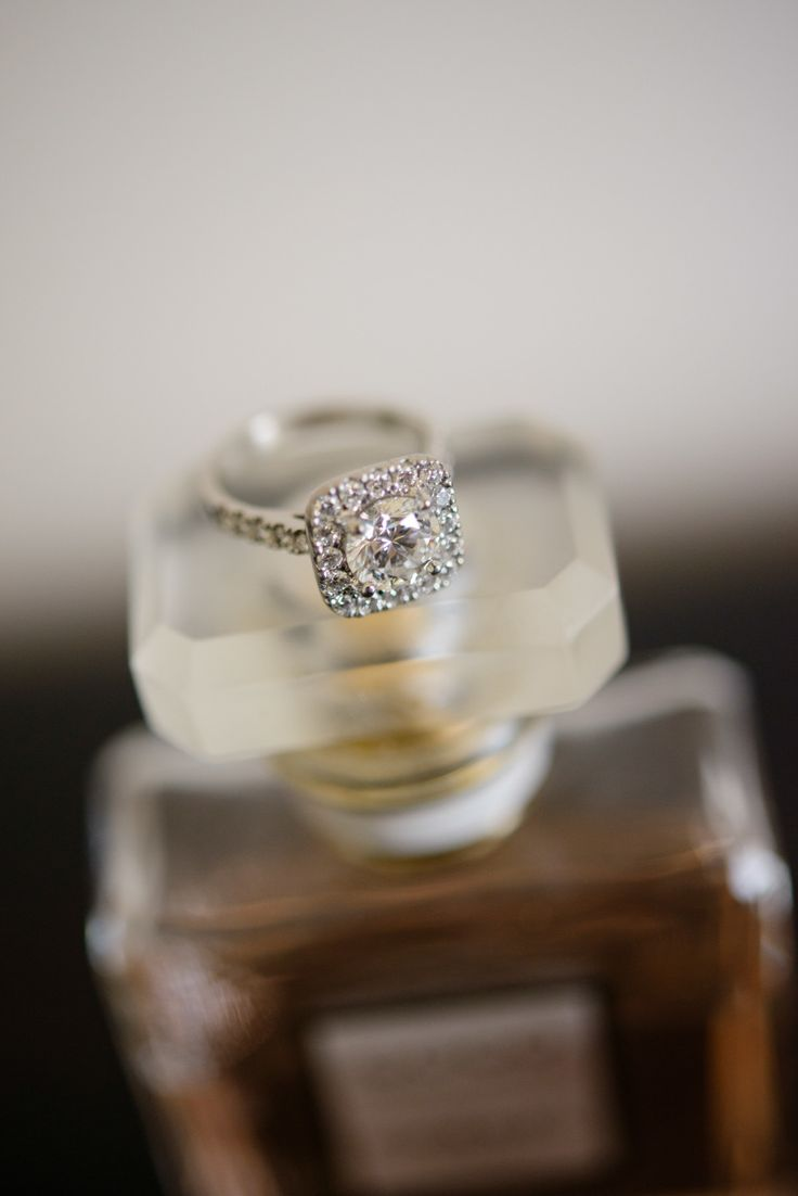 #Engagement Ring   See the wedding on SMP - www.StyleMePretty... Andrea Sproxton...