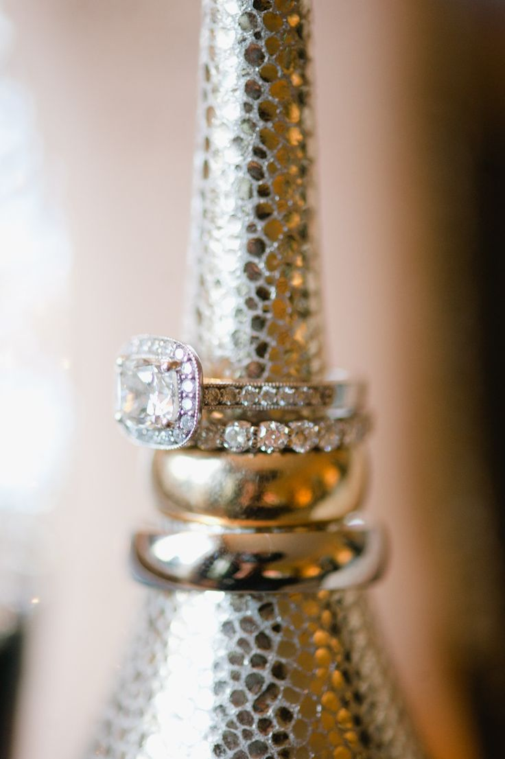 Engagement Ring - See the wedding on Style Me Pretty--  www.StyleMePretty... Haz...