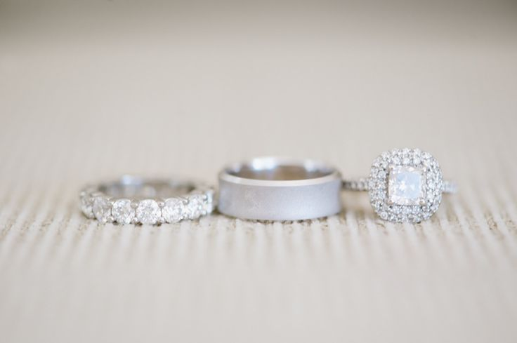 Engagement Ring + Wedding Bands | Wow -- really really Wow! Photography: Hazelnu...