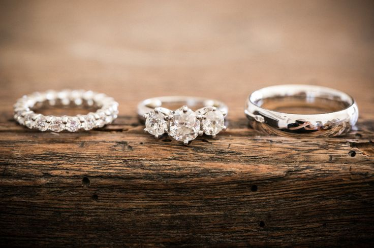 Engagement Ring + Wedding Rings   On SMP   Photo: Zev Fisher