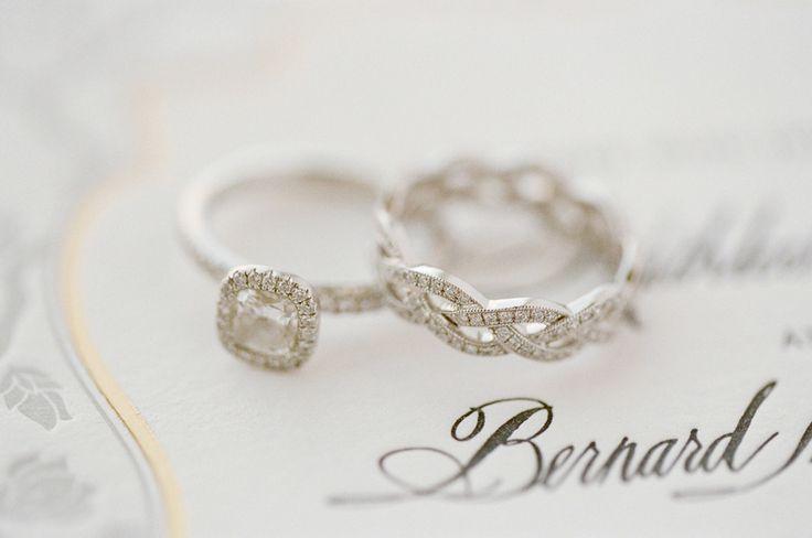 #EngagementRing + #WeddingBand    Jose Villa Photography   See the Wedding on #S...
