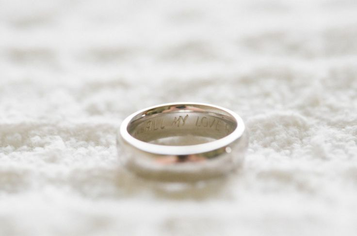 Engraved Groom's Ring | On SMP: www.stylemepretty... | Photo: Lauren Kinsey