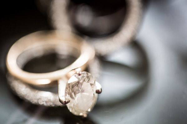 Gold and diamond engagement ring: www.stylemepretty... | Photography: 49eyes - 4...