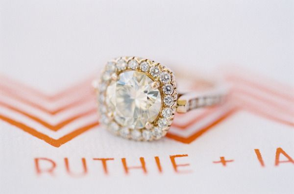 gold halo ring  Photography By / josevillaphoto.com