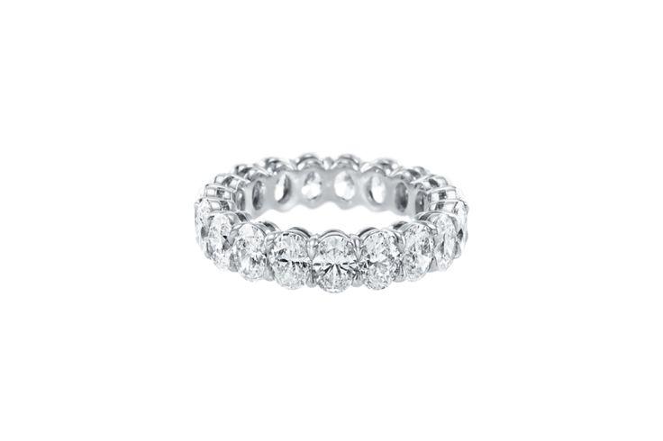Harry Winston Prong-Set Oval Diamond Wedding Band: www.stylemepretty...