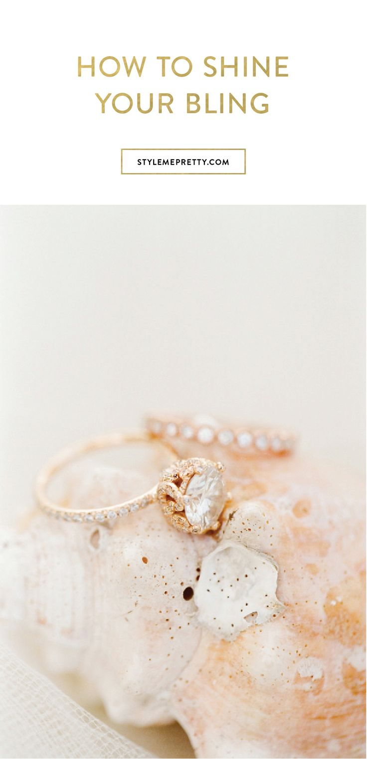 How to care for your engagement ring via Style Me Pretty