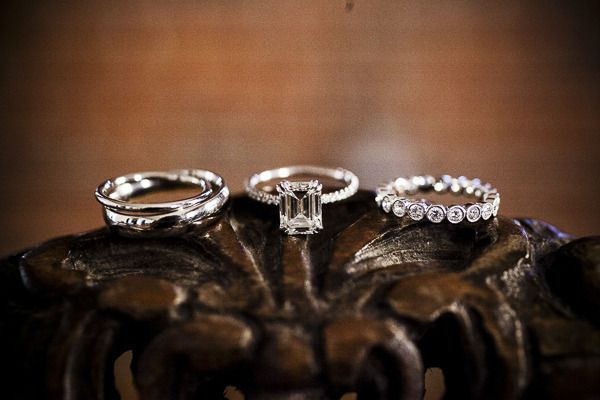 Love Love Love these #Rings!   See the wedding on SMP -  www.StyleMePretty... Ph...