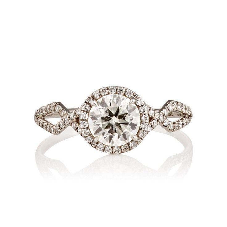 Monique Pean Brilliant Cut White Diamond Engagement Ring: www.stylemepretty...