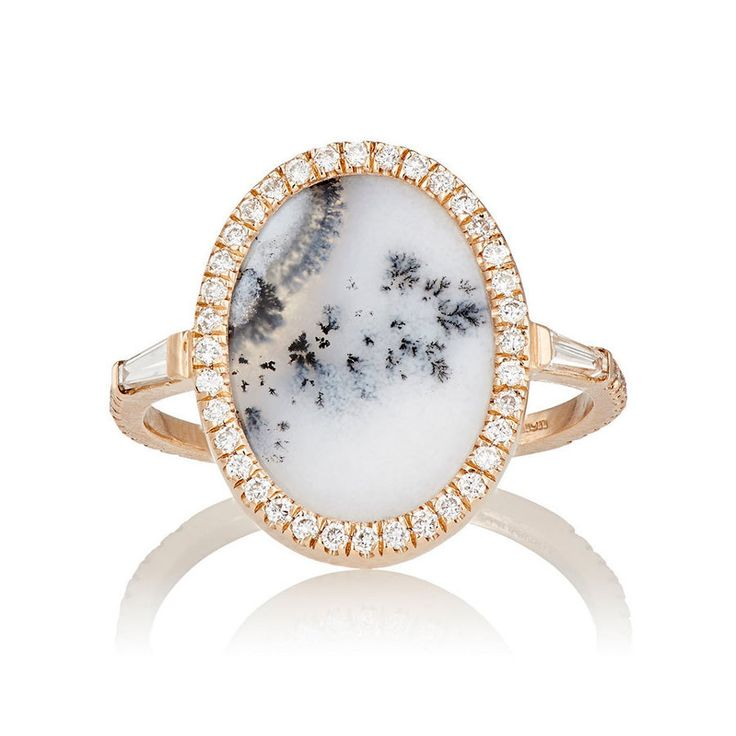 Monique Péan White Diamond & Dendritic Opal Ring: www.stylemepretty...