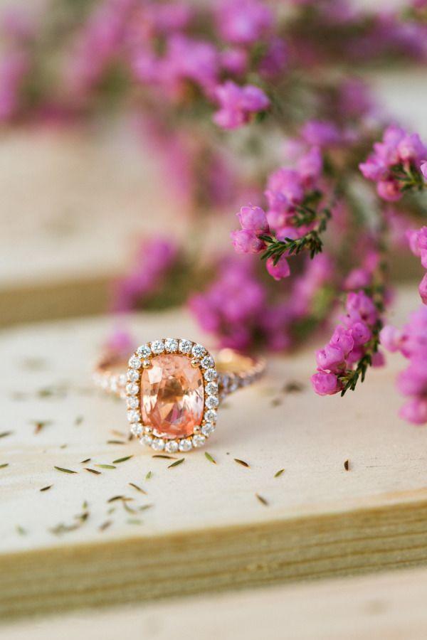 Peach sapphire: www.stylemepretty...