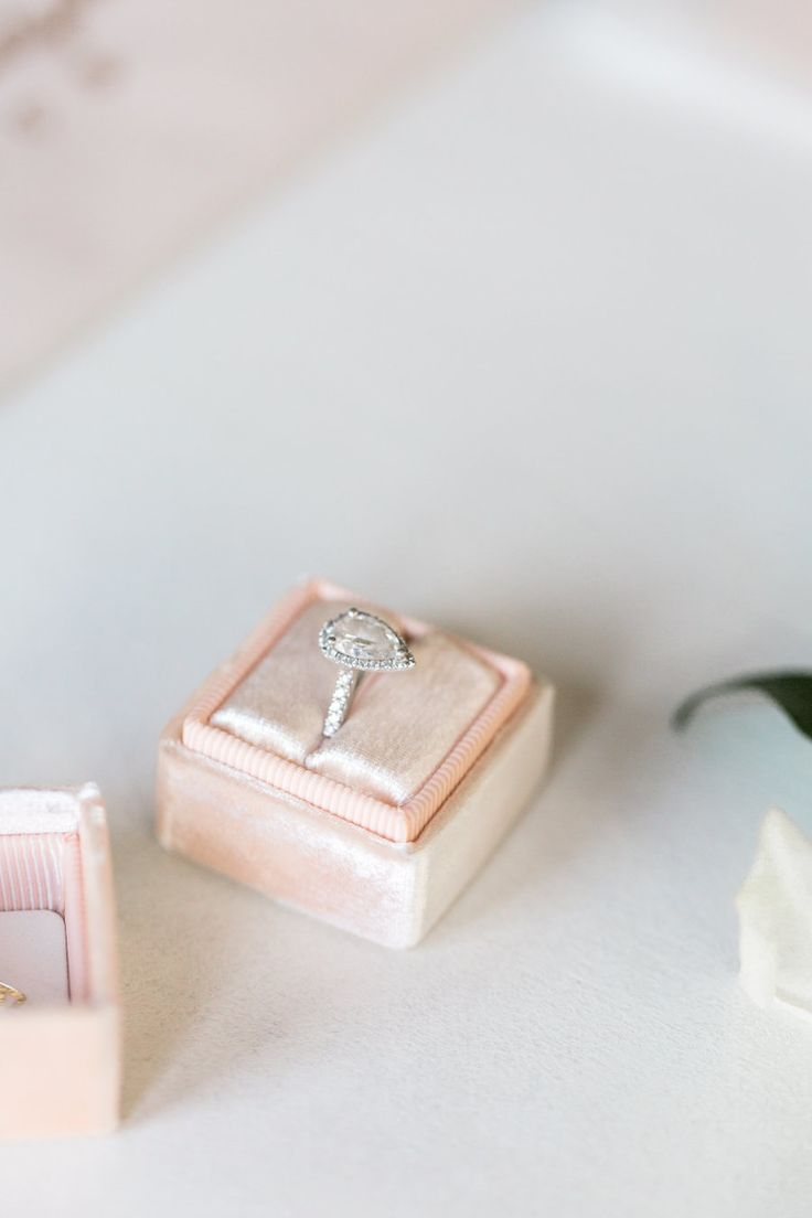 Pear-cut engagement ring: Photography: Meredith Jane - www.meredithjanep...