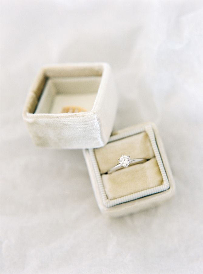 Pretty solitaire diamond engagement ring: www.stylemepretty... | Photography: 2 ...