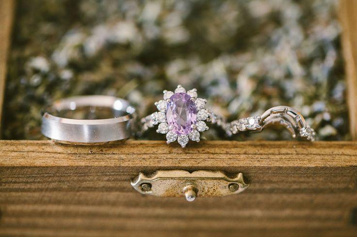 Purple Sapphire Engagement Ring | Photography: Rebecca Arthurs