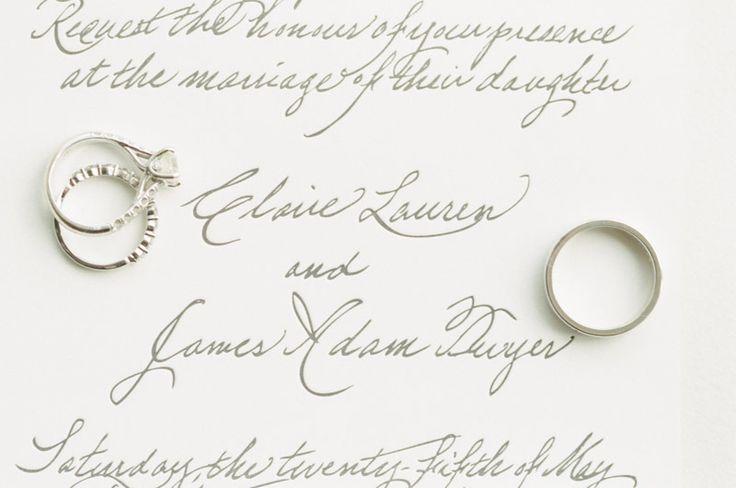 #rings and the prettiest #calligraphy  Photography: Lauren Kinsey Fine Art Weddi...