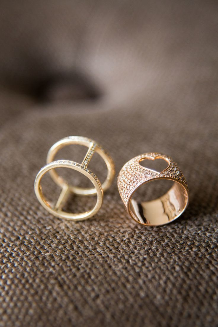 #Rings - designed by Alexa Leigh | See her wedding on SMP - www.stylemepretty......