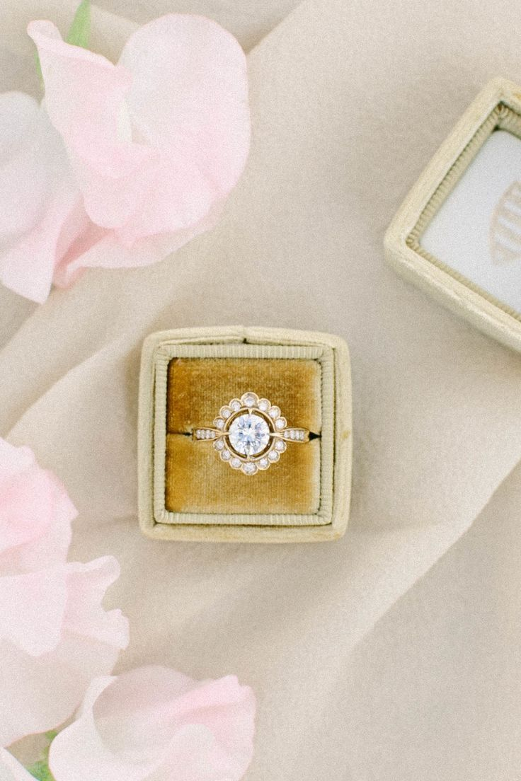 Round-cut diamond ring in halo setting: Photography: Jacqui Cole Photography - j...