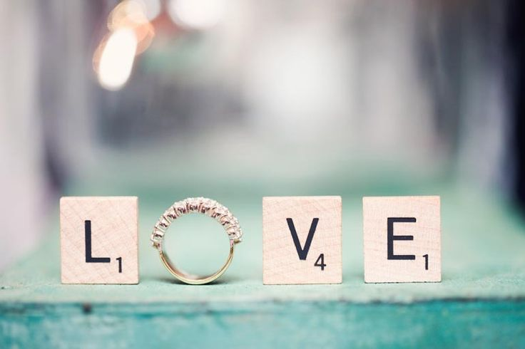 Scrabble Ring Love ~   Photography by weheartphotograph...