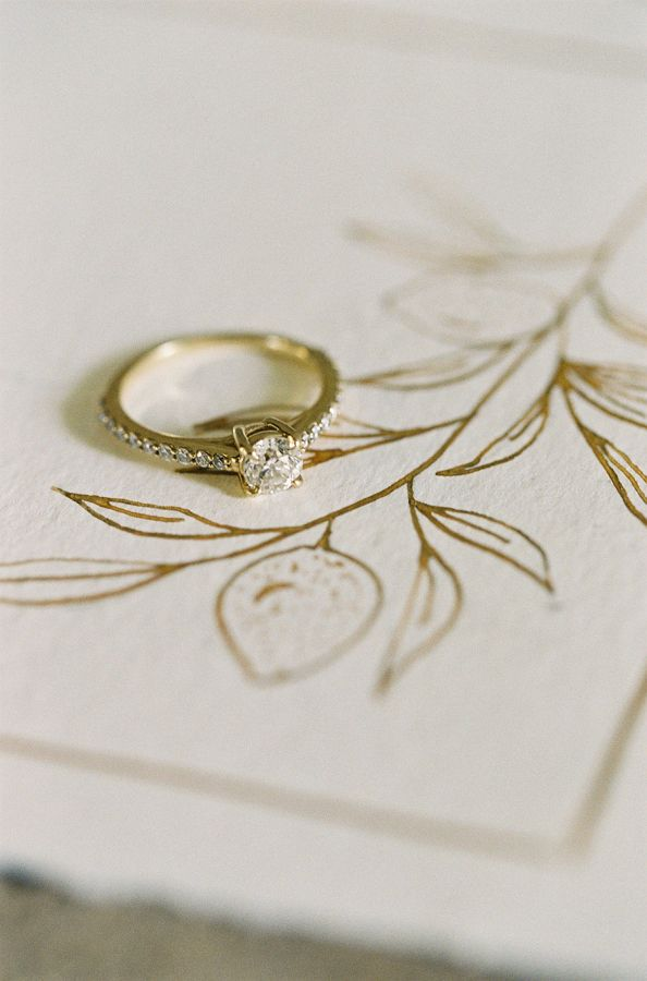 Solitaire engagement ring: www.stylemepretty... | Photography: Sara Weir - www.s...