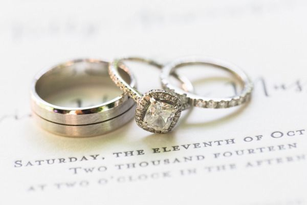 Square cut with a halo: www.stylemepretty... | Photography: Carlie Statsky - www...