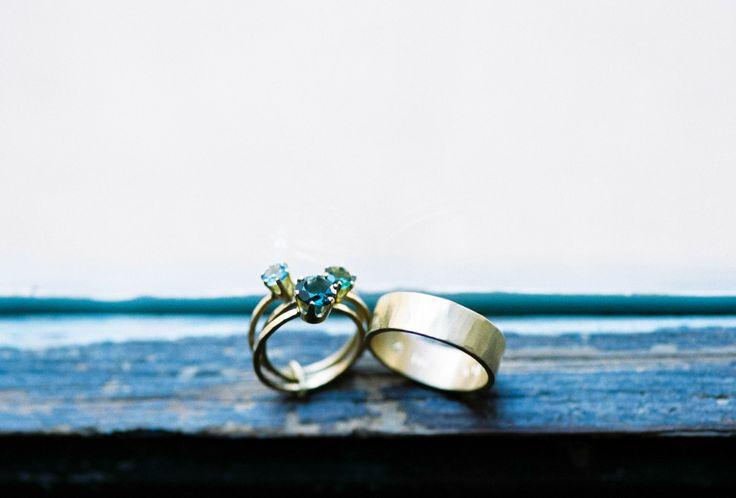 Stackable 3 Ring Set - Pretty! See the South of France Wedding at Chateau d'Alph...