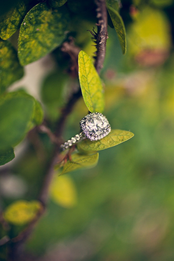 This ring is as lovely as the bride who now wears it! The wedding featured on SM...