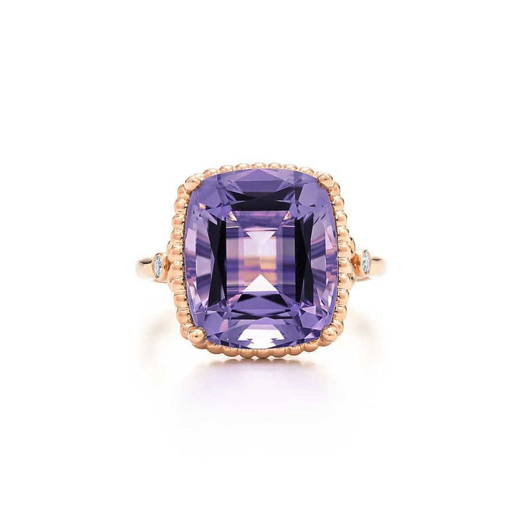 Tiffany & Co. rose gold purple amethyst engagement ring: www.stylemepretty...