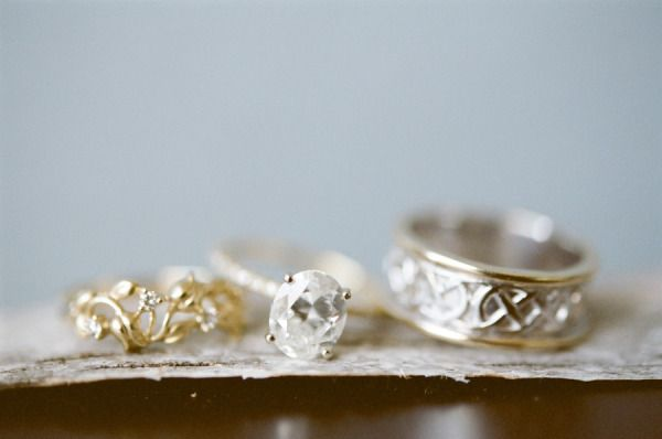 Vintage inspired engagement ring: www.stylemepretty... | Photography: Emily Stef...