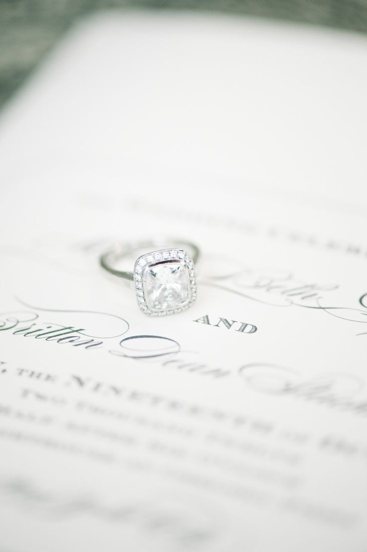 #wedding #rings Photography by brklynview.com Read more - www.stylemepretty...