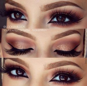 41. Pair a black liner with pale eye shadow all over the lid and a darker shade ...