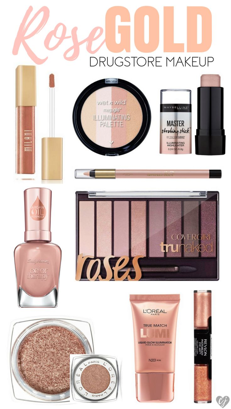 Affordable brands have come out so many fun rose gold drugstore makeup products!...