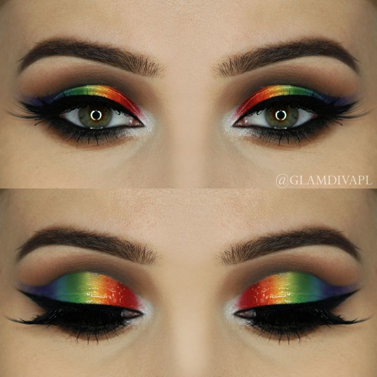 Check out our favorite Glossy Rainbow inspired makeup look. Embrace your cosmeti...
