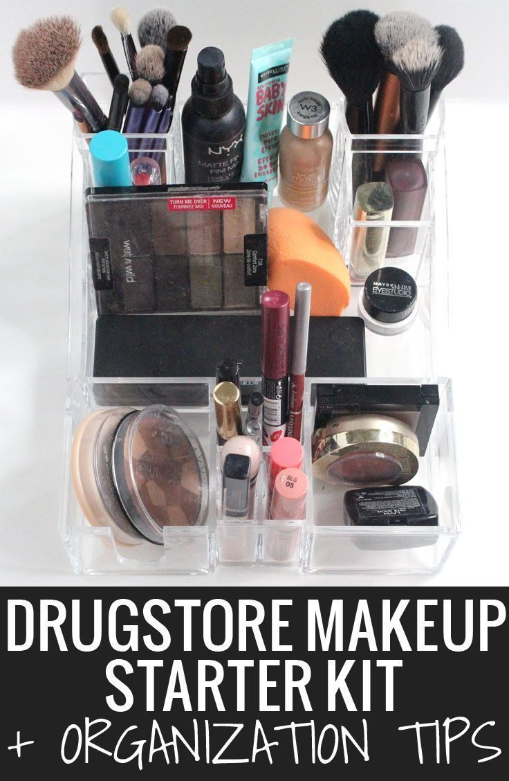 Drugstore Makeup Starter Kit + Organization Tips - you don't have to leave the d...
