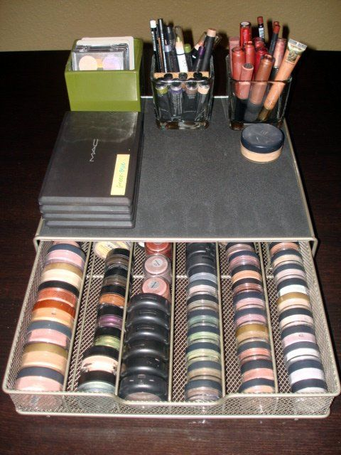 For all my Mac individual eyeshadows!  A K-cup holder drawer.  Then put the stan...