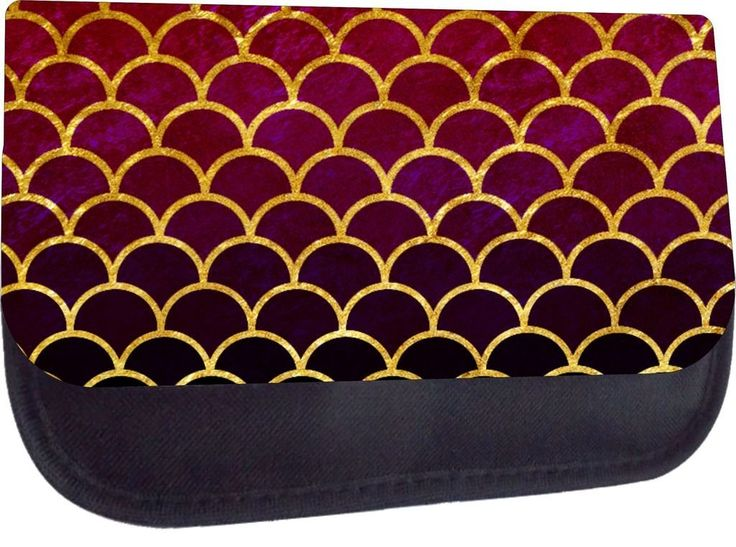 Gilded Scallops 04- Rosie Parker TM Medium Sized Cosmetic Case-Made in the U.S.A...