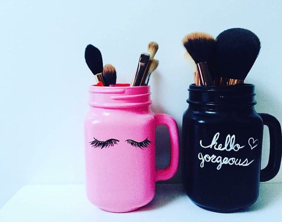 Hello Gorgeous Makeup Brush Holder Set by Love4Eden on Etsy