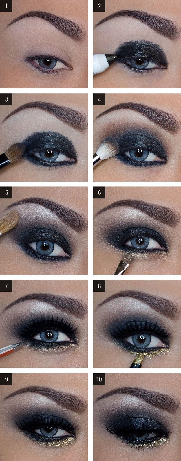 How to Do Dramatic Smokey Eyes | Makeup for Blue Eye by Makeup Tutorials at www....