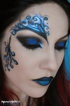 Make-up Artist Me!: Blue Secret- blue masquerade makeup tutorial-- costume hallo...