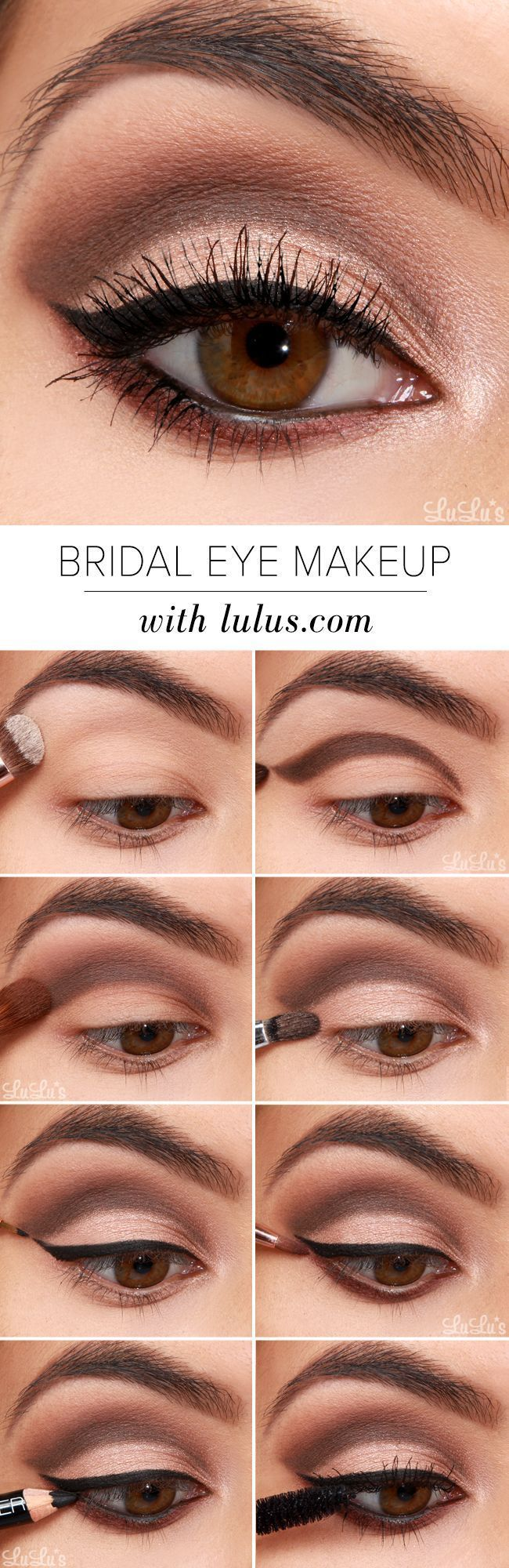 Make up for brown eyes step by step guide to make you look stunning on your wedd...