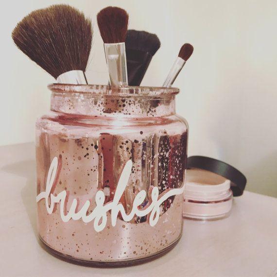 Makeup brush holder makeup organizer makeup by loveandlux