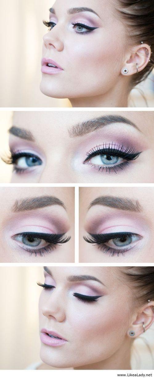 Makeup | light pink eyeshadow look