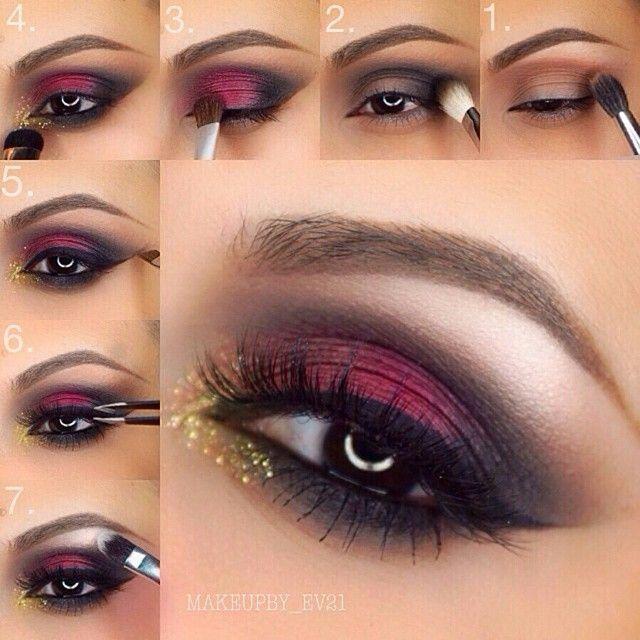 Maroon Smokey Eye Makeup Tutorial   My Hijab