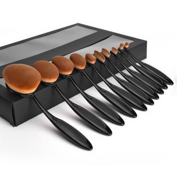 Professional Foundation Powder Brush Kit 10pc/set Makeup Brush