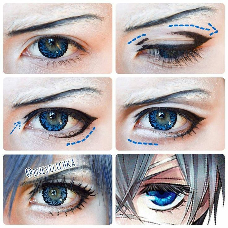 @Regrann from Inevelichka - Ciel Phantomhive Makeup Tutorial Lenses from…