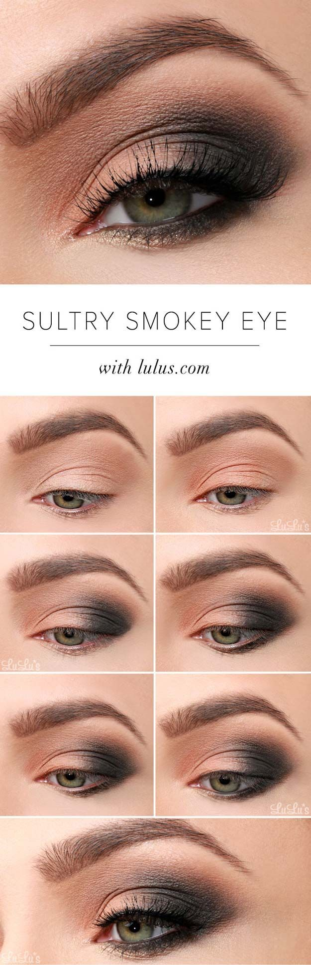 Sexy Eye Makeup Tutorials - Sultry Smokey Eye Makeup Tutorial - Easy Guides on H...