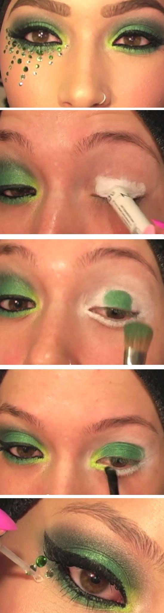 Makeup Ideas 2017 2018 Swarovski Green Smokey Eye Cute St