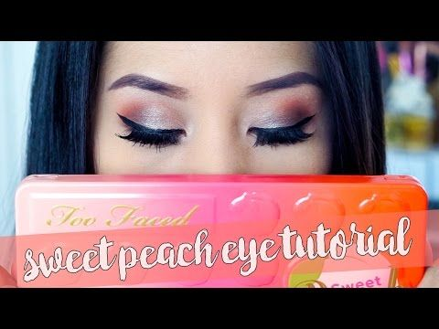 Too Faced Sweet Peach Palette | Eye Makeup Tutorial - YouTube